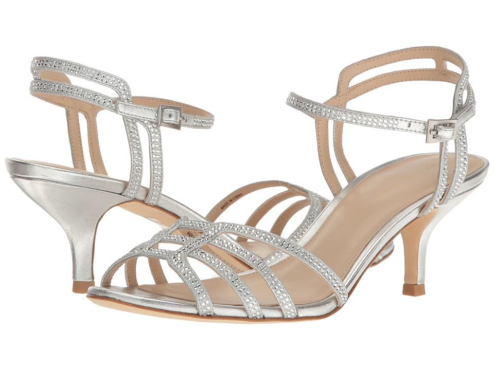 Pelle Moda - Alia (Silver Metallic Suede) Women's 1-2 inch heel Shoes
