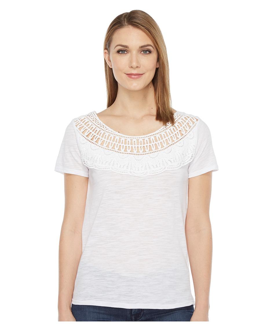 Roper 0892 Slub Jersey Tee (White) Women