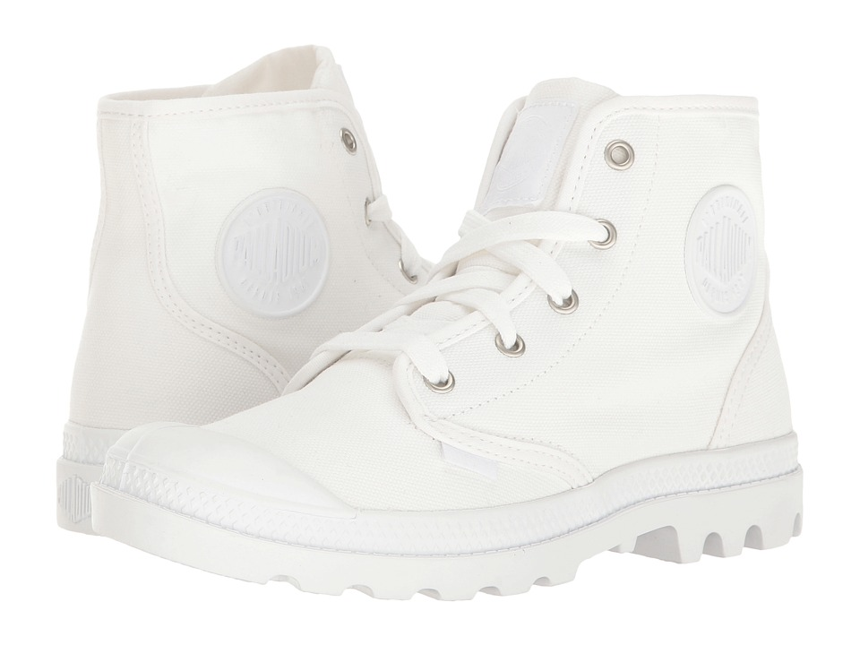 Palladium Pampa Hi (White/White/Dull Silver) Women