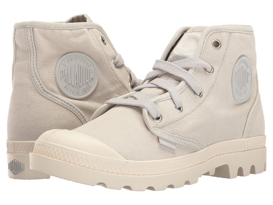 Palladium - Pampa Hi (Lunar Rock/Marshmallow) Women's Lace-up Boots