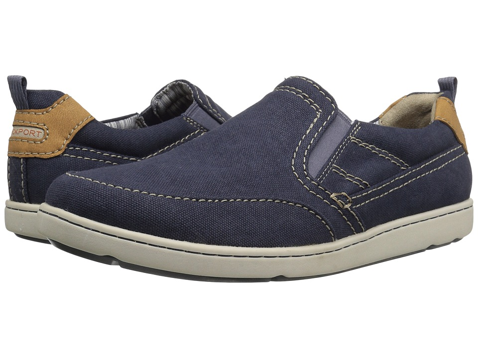Rockport - Gryffen Mudguard So (Navy Canvas) Men's Shoes