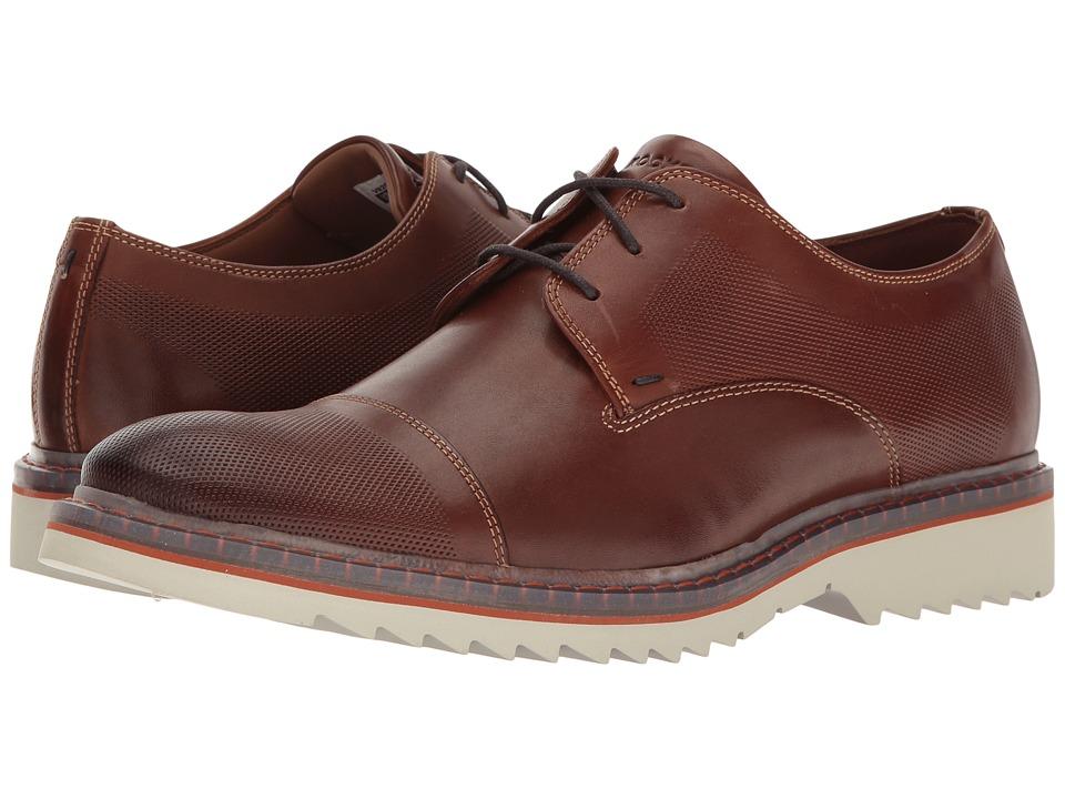 Rockport Jaxson Cap Toe (Tobacco Leather) Men
