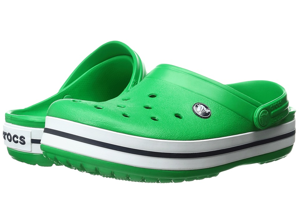 Crocs - Crocband (Grass Green/White) Clog Shoes