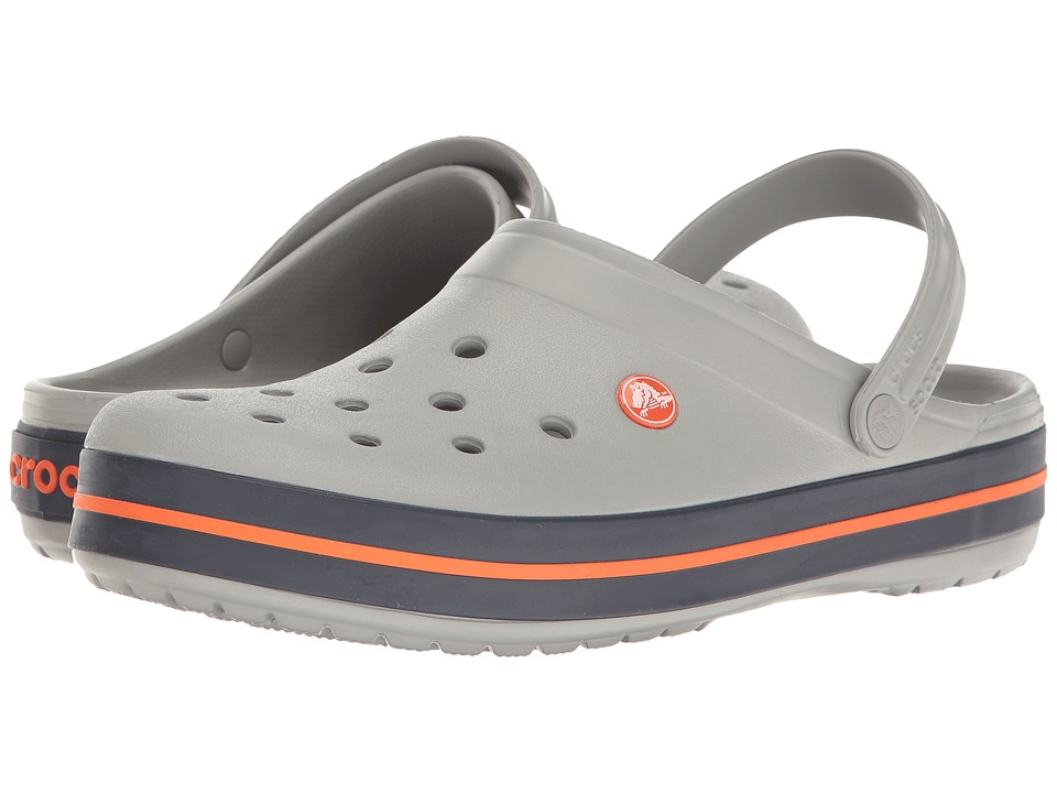 Crocs - Crocband (Light Grey/Navy) Clog Shoes