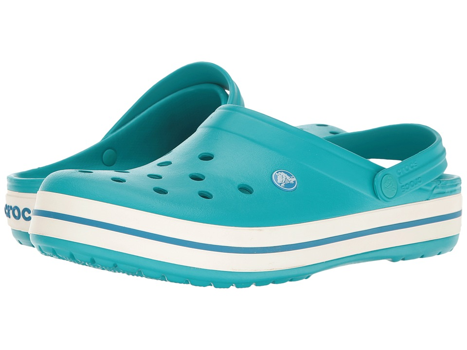 Crocs - Crocband (Turquoise/Oyster) Clog Shoes