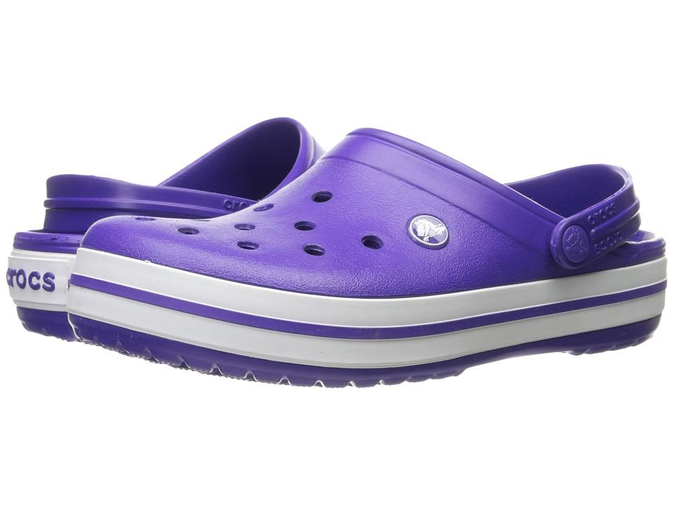 Crocs Crocband Clog (Ultraviolet/White) Clog Shoes