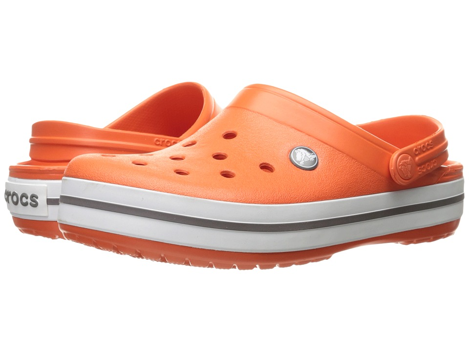 Crocs - Crocband (Tangerine/White) Clog Shoes