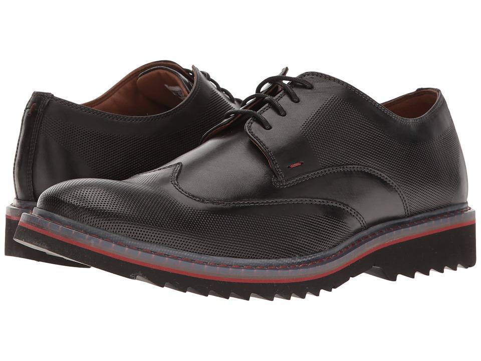 Rockport Jaxson Wingtip (Black Leather) Men