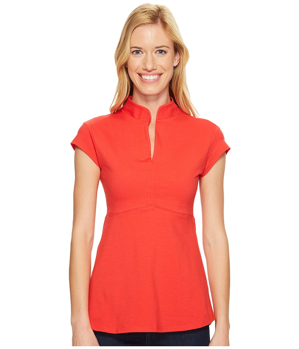 FIG Clothing - Bom Top (Cardinal) Women's Short Sleeve Pullover
