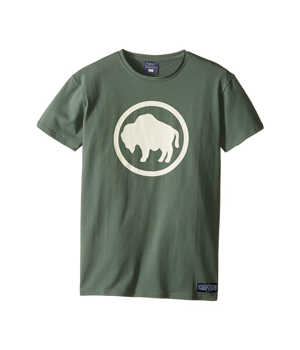 Toobydoo - Camp Buffalo Tee (Infant/Toddler/Little Kids/Big Kids) (Green/White Buffalo Graphic) Boy's Clothing