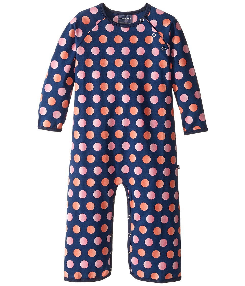 Toobydoo - Dot Party Bootcut Jumpsuit (Infant) (Pink/Coral/Navy Dots) Girl's Jumpsuit & Rompers One Piece