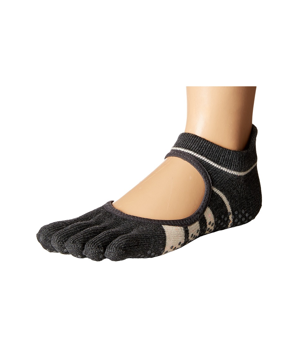 toesox - Bellarina Full Toe w/ Grip (Groove) Women's Crew Cut Socks Shoes
