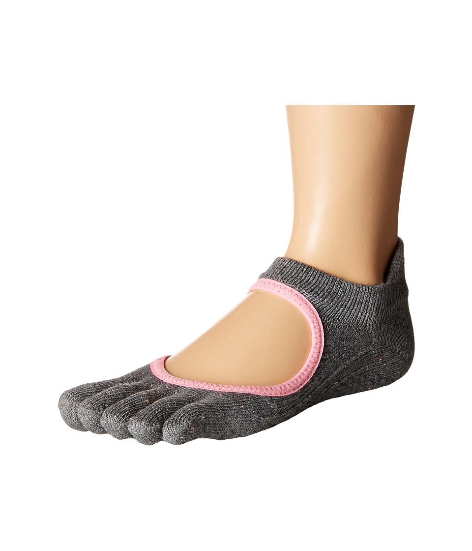 toesox - Bellarina Full Toe w/ Grip (Pepper) Women's Crew Cut Socks Shoes