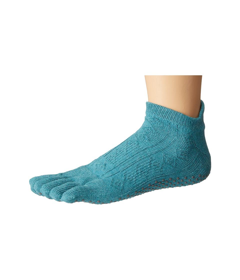 toesox - Low Rise Full Toe w/ Grip (Mermaid) Women's Quarter Length Socks Shoes