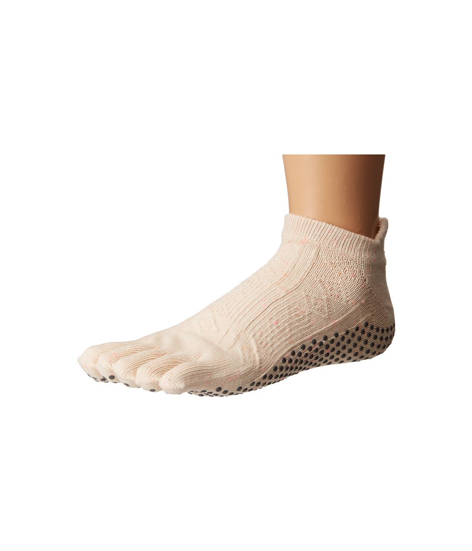 toesox - Low Rise Full Toe w/ Grip (Confetti) Women's Quarter Length Socks Shoes