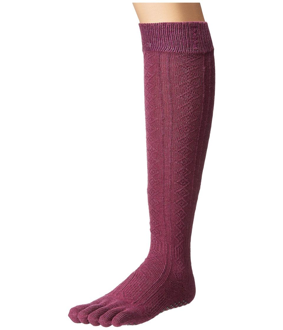 toesox - Grip Full Toe Scrunch (Violet) Women's Low Cut Socks Shoes