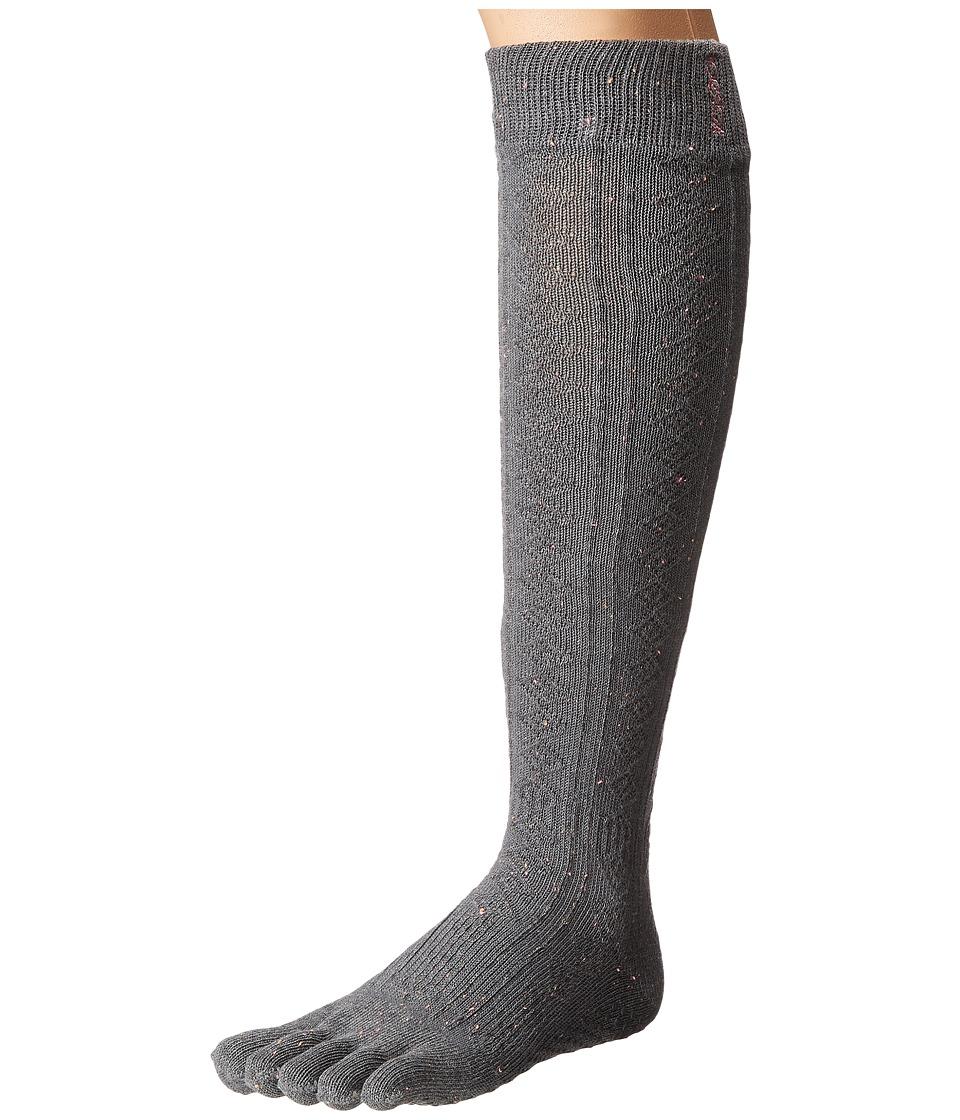 toesox - Grip Full Toe Scrunch (Pepper) Women's Low Cut Socks Shoes