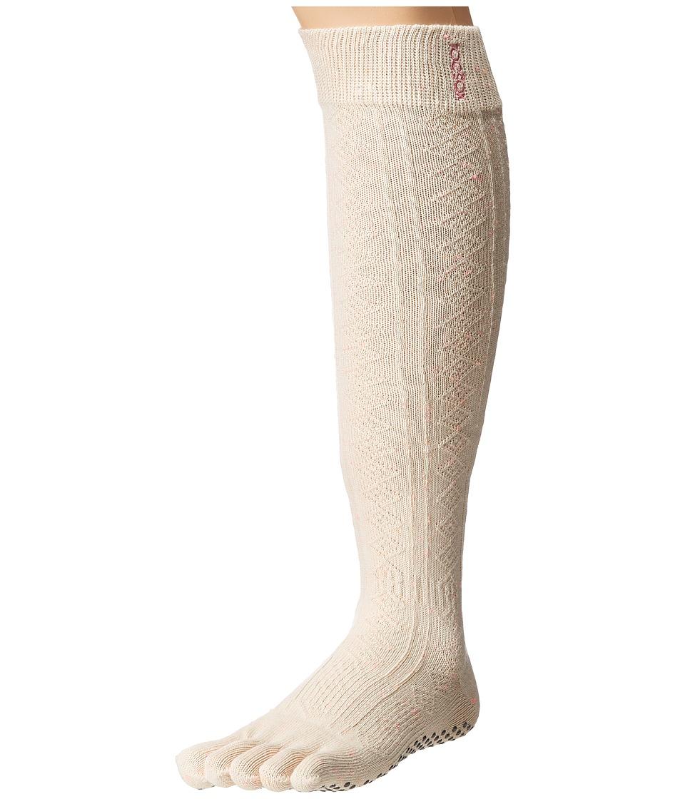 toesox - Grip Full Toe Scrunch (Confetti) Women's Low Cut Socks Shoes