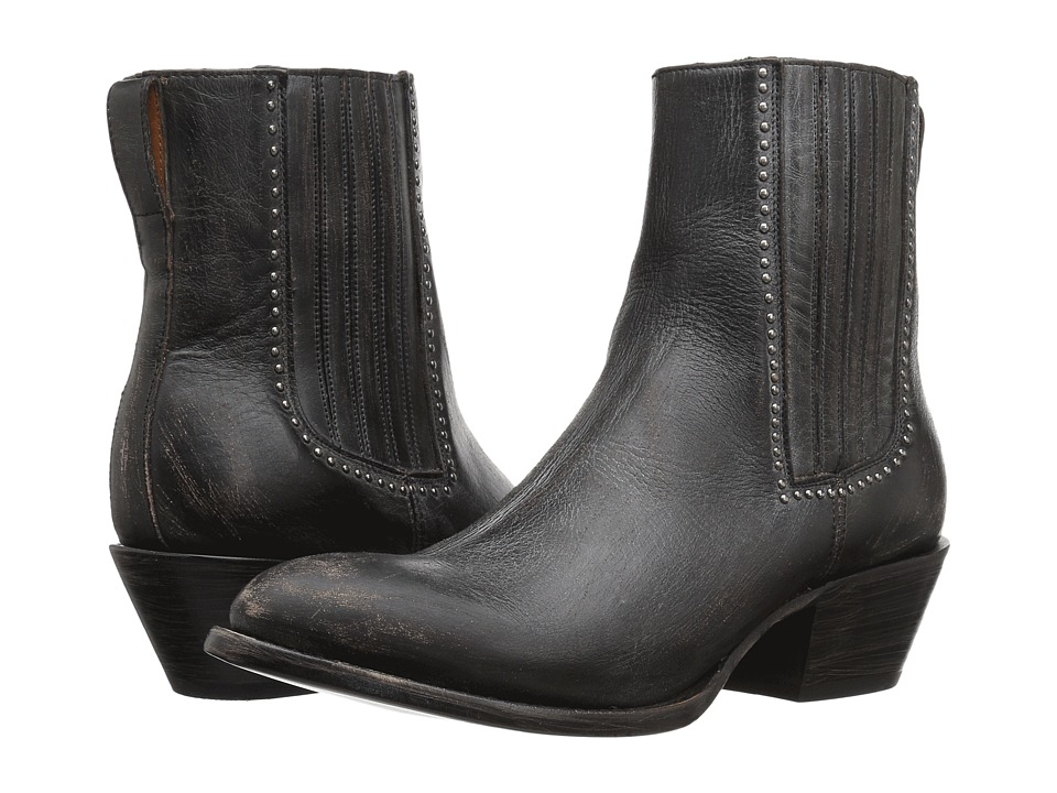 Lucchese Adele (Black Distressed Leather) Women