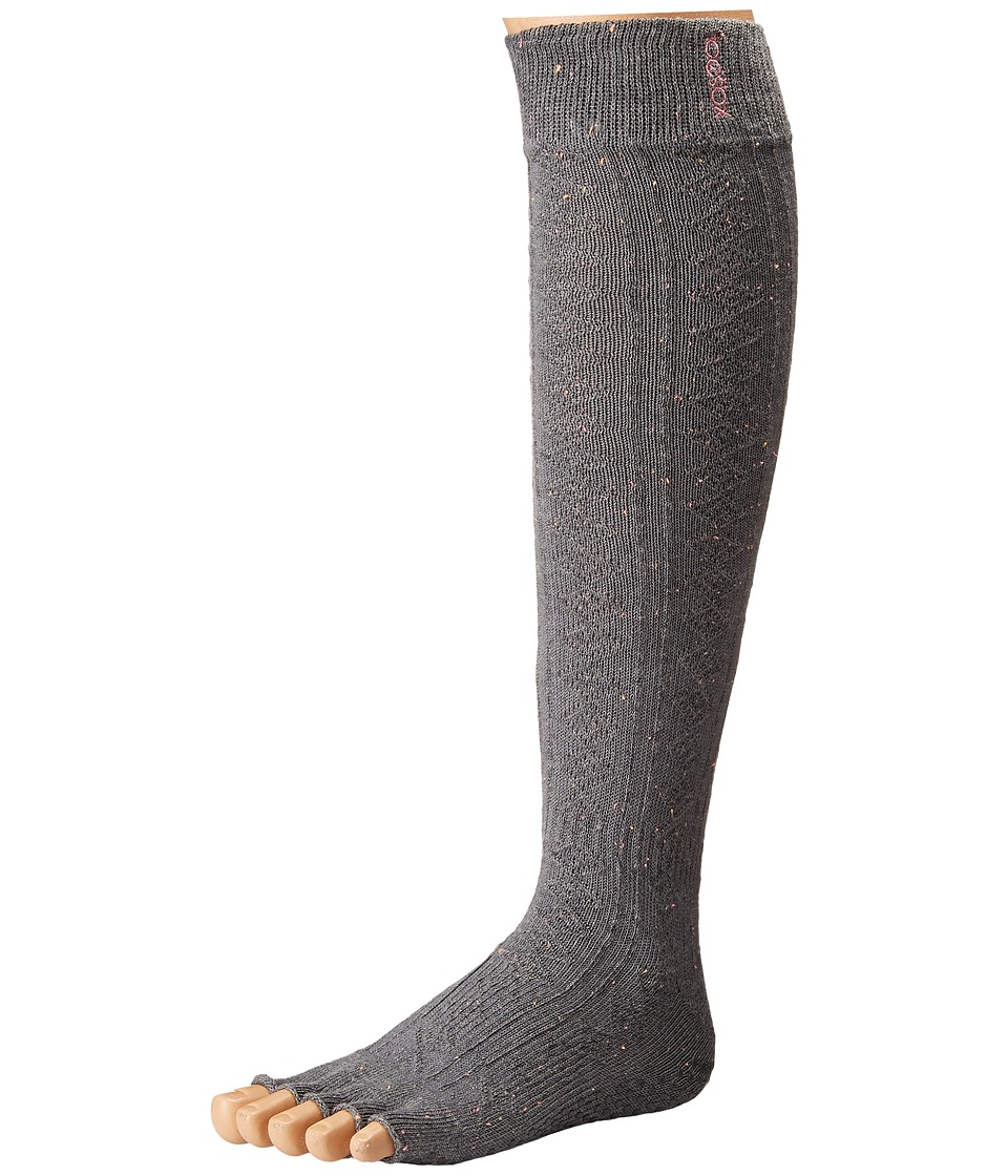 toesox - Grip Half Toe Scrunch (Pepper) Women's Knee High Socks Shoes