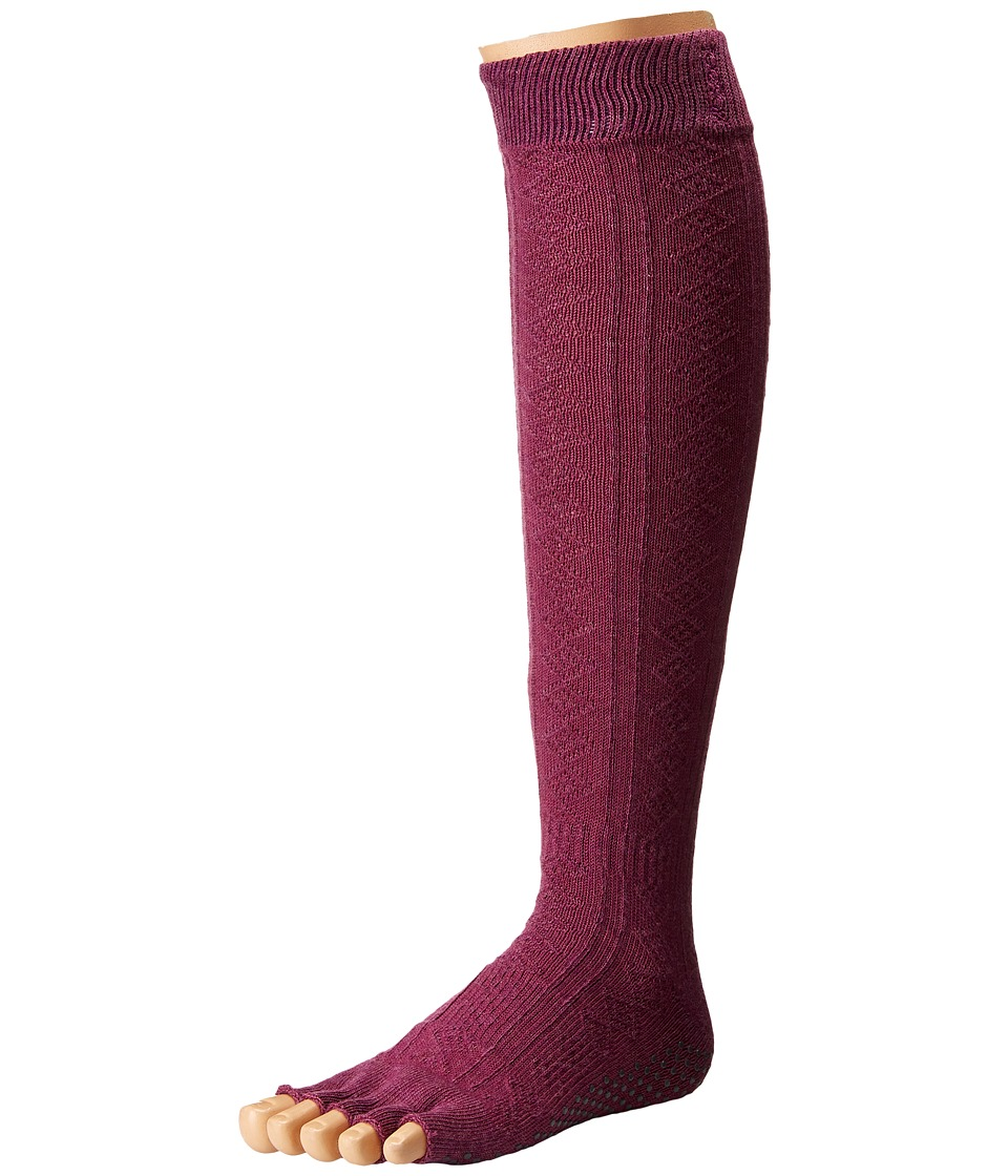 toesox - Grip Half Toe Scrunch (Violet) Women's Knee High Socks Shoes