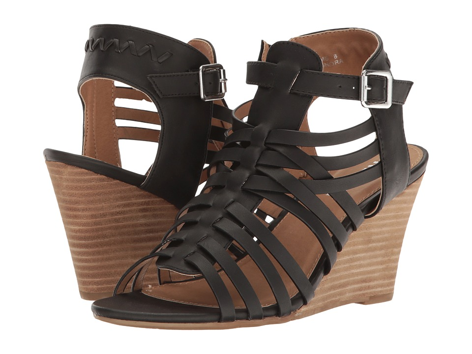 Report - Sonora (Black) Women's Wedge Shoes