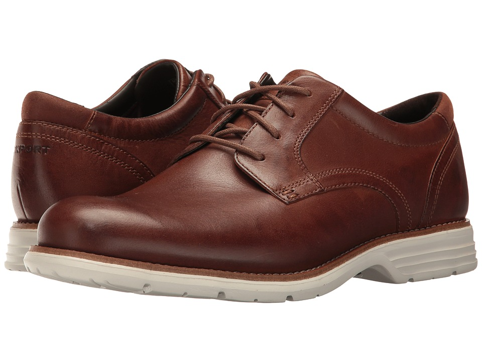Rockport - Total Motion Fusion Plain Toe (New Caramel Leather) Men's Plain Toe Shoes