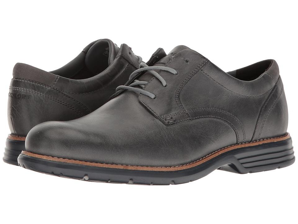 Rockport - Total Motion Fusion Plain Toe (Castlerock Grey Leather) Men's Plain Toe Shoes