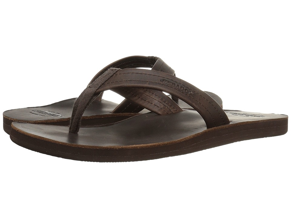 Sebago - Tides Flip Flop (Brown Leather) Men's Shoes