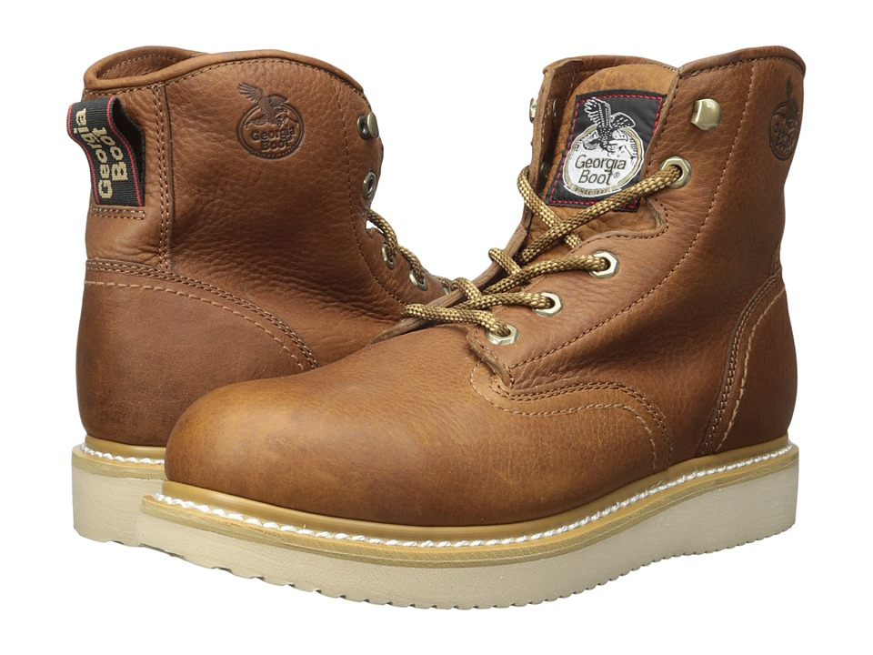 Georgia Boot - 6 Wedge ST (Barracuda Gold) Men's Work Boots