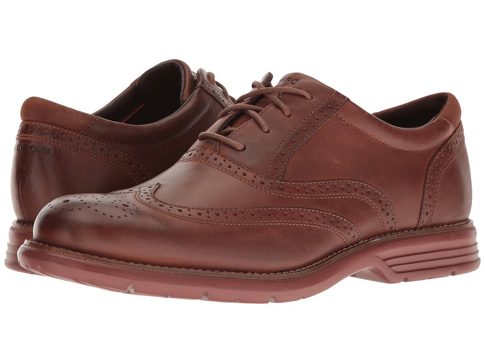 Rockport - Total Motion Fusion Wing Tip (New Caramel Leather) Men's Lace Up Wing Tip Shoes