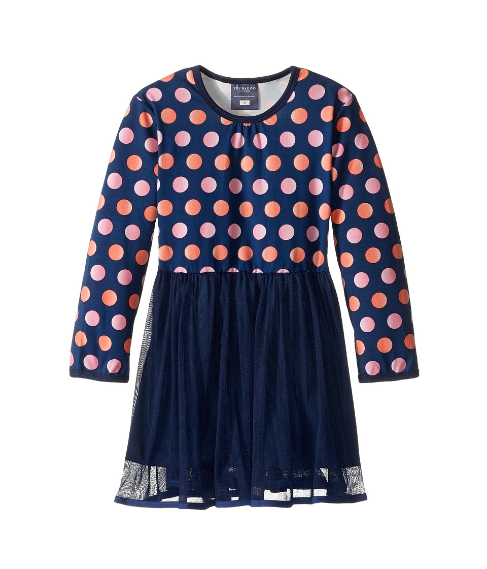 Toobydoo - Dot Party Dress (Infant/Toddler) (Coral/Pink/Navy) Girl's Dress