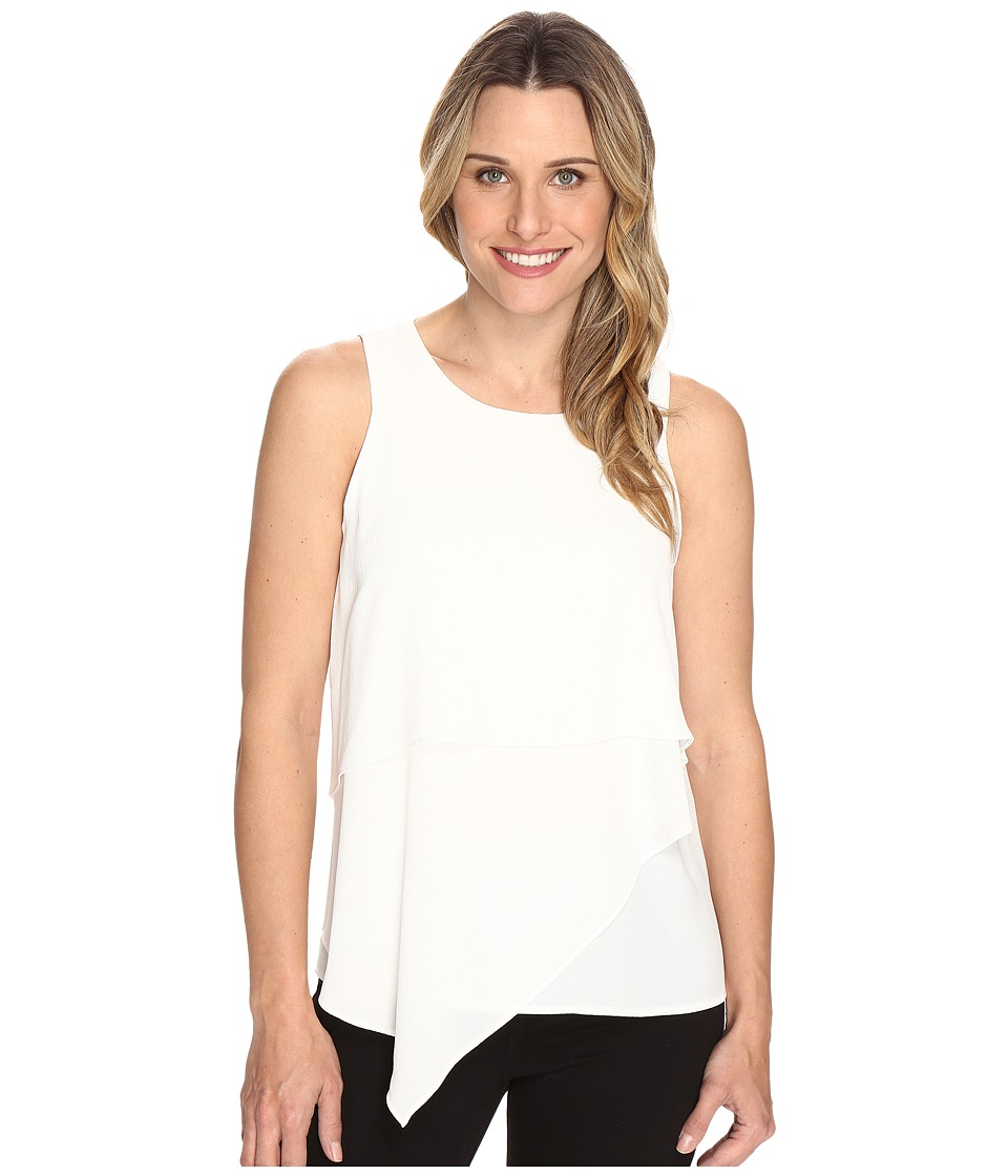 Vince Camuto - Sleeveless Asymmetrical Layered Blouse (New Ivory) Women's Blouse