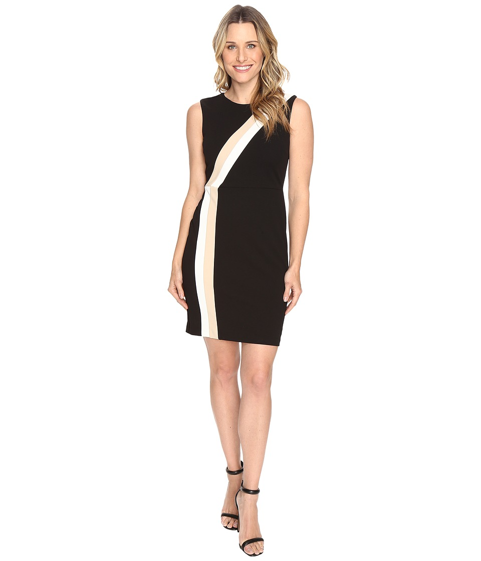 Vince Camuto - Sleeveless Color Blocked Dress (Rich Black) Women's Dress
