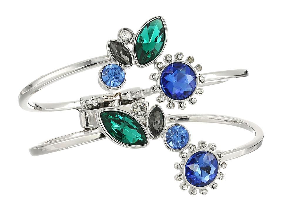 GUESS - Multi Stone Bypass Bracelet (Silver/Light Sapphire/Crystal) Bracelet