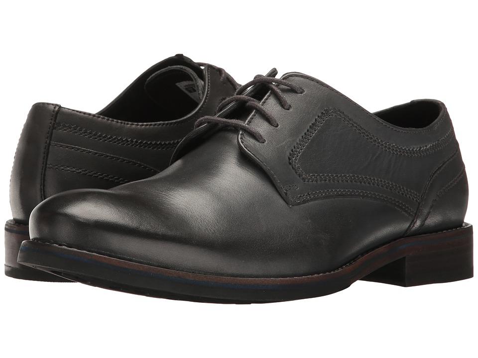 Rockport Wyat Plain Toe (Dark Shadow Leather) Men