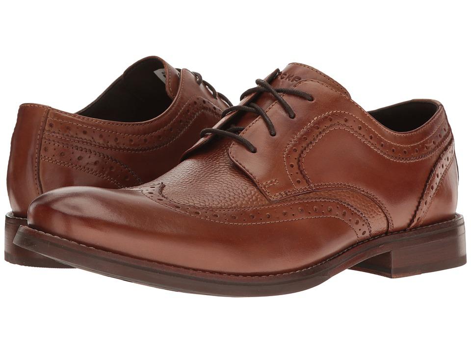 Rockport Wyat Wingtip Oxford (Cognac Leather) Men