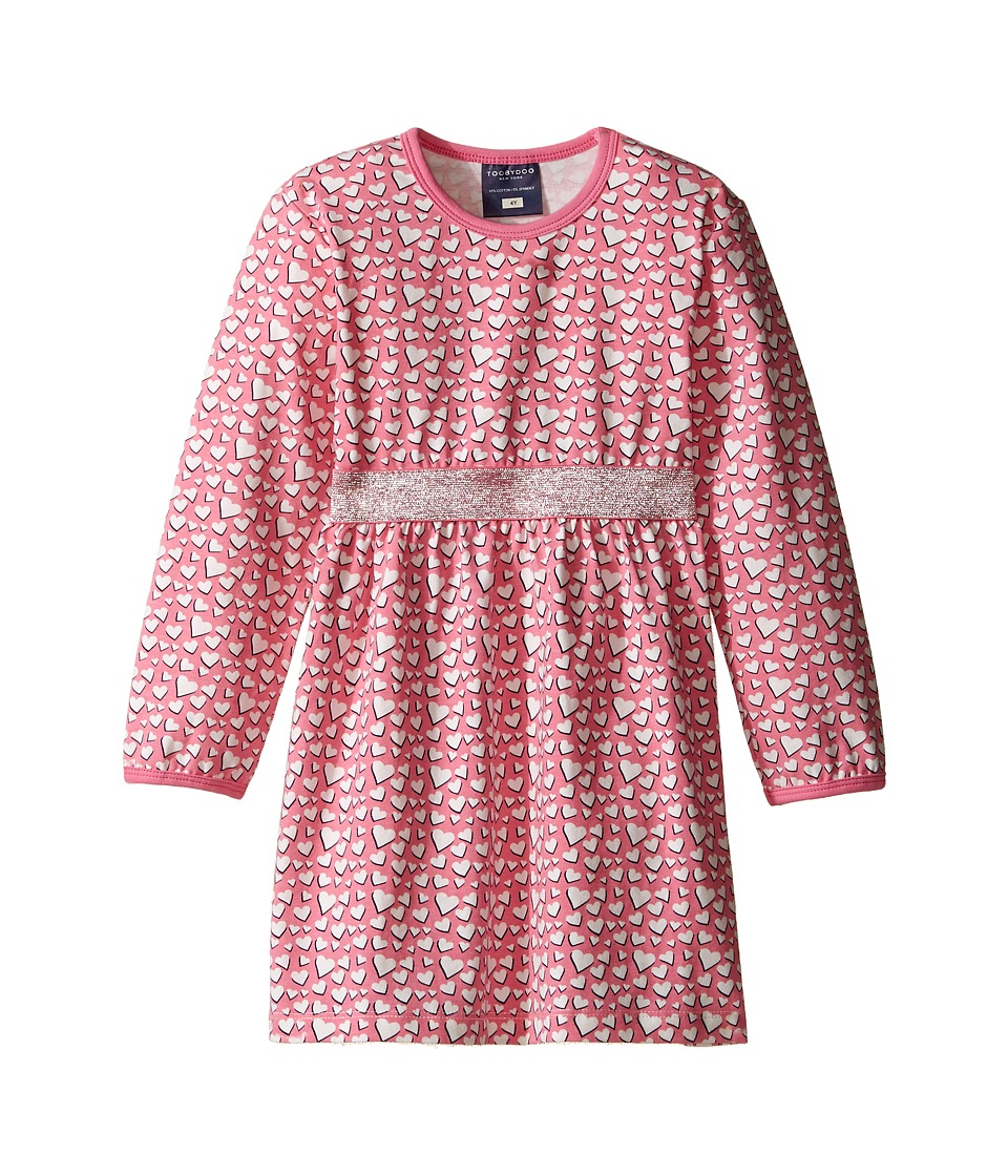 Toobydoo - Pink Sparkle Play Dress (Infant/Toddler) (Pink/White/Silver) Girl's Dress