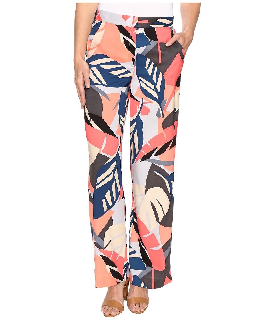Vince Camuto - Modern Tropics Wide Leg Pants (Coral Passion) Women's Casual Pants