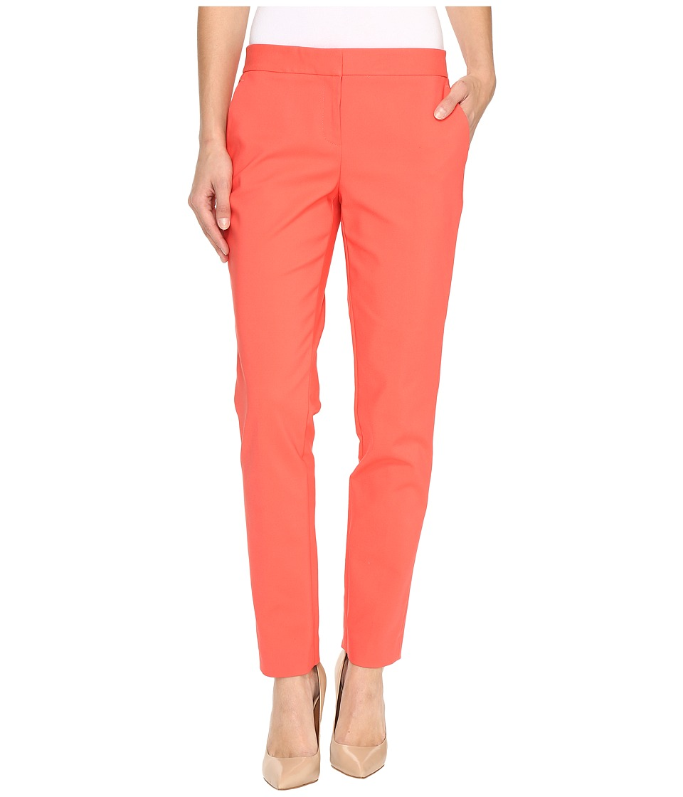 Vince Camuto - Front Zip Ankle Pants (Coral Passion) Women's Casual Pants