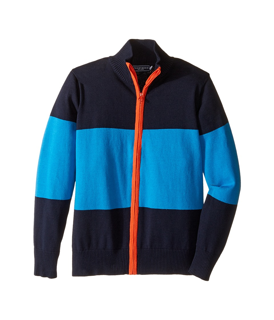 Toobydoo - Rocky Mountain Zip-Up Sweater (Toddler/Little Kids/Big Kids) (Navy/Blue/Orange) Boy's Sweater