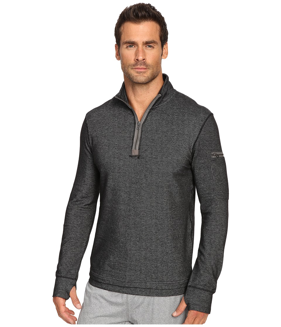 Manduka - Ribu Zip Neck (Black) Men's Clothing