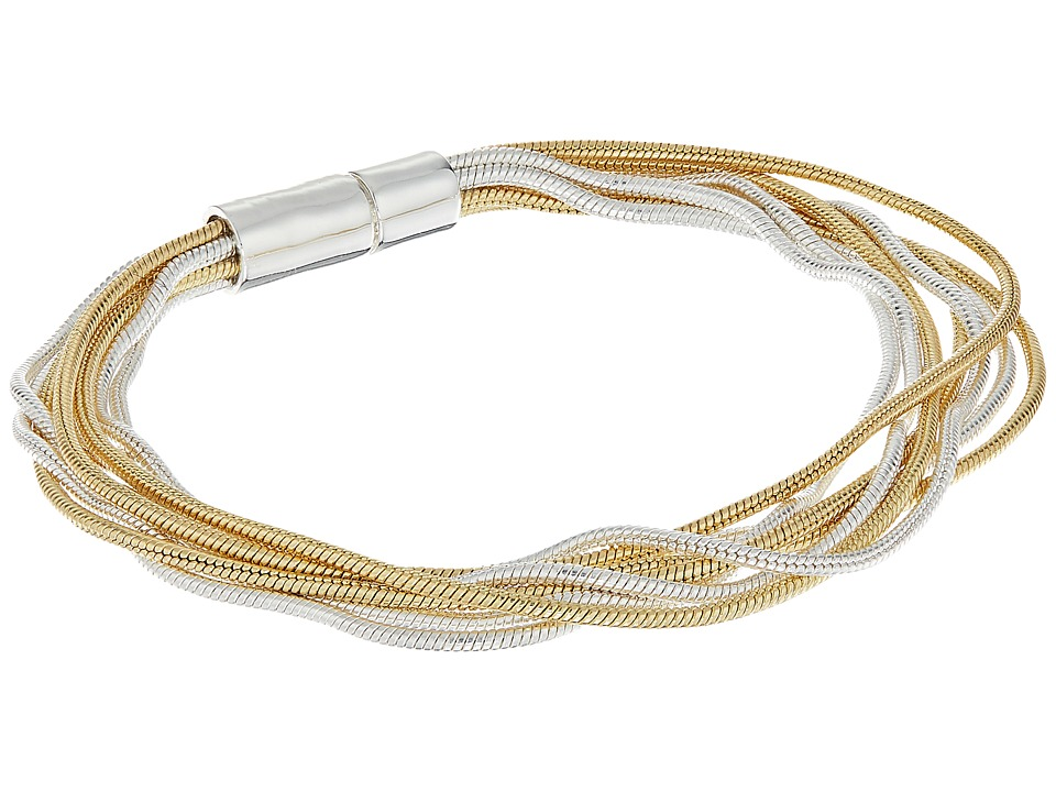 LAUREN Ralph Lauren - Mix Master Multi Row Snake Chain Bracelet (Two-Tone) Bracelet
