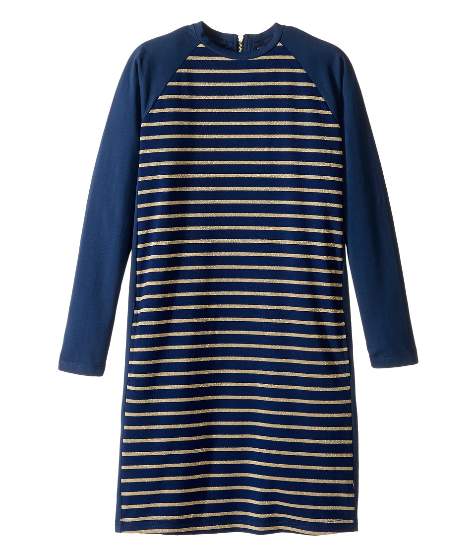 Toobydoo - Go For The Gold Shift Party Dress (Toddler/Little Kids/Big Kids) (Navy/Gold) Girl's Dress