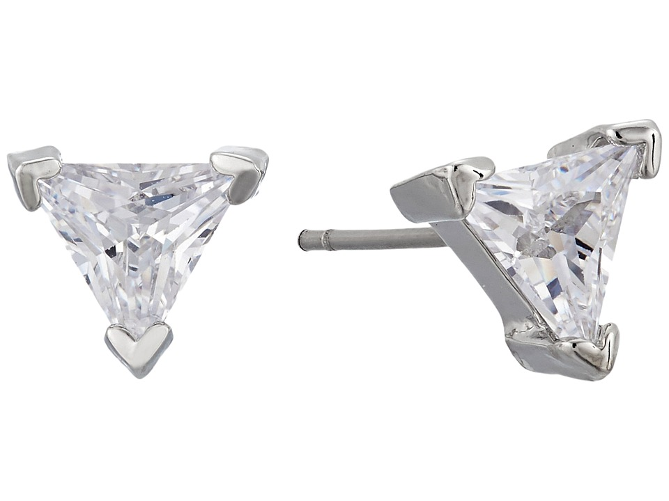 LAUREN Ralph Lauren - Downtown Modern Crystal Trillion Stud Earrings (Silver/Crystal) Earring