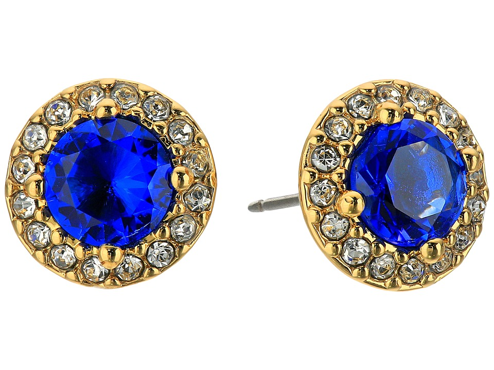 LAUREN Ralph Lauren - Treasure Trove Small Stone Stud Earrings (Blue/Crystal/Gold) Earring