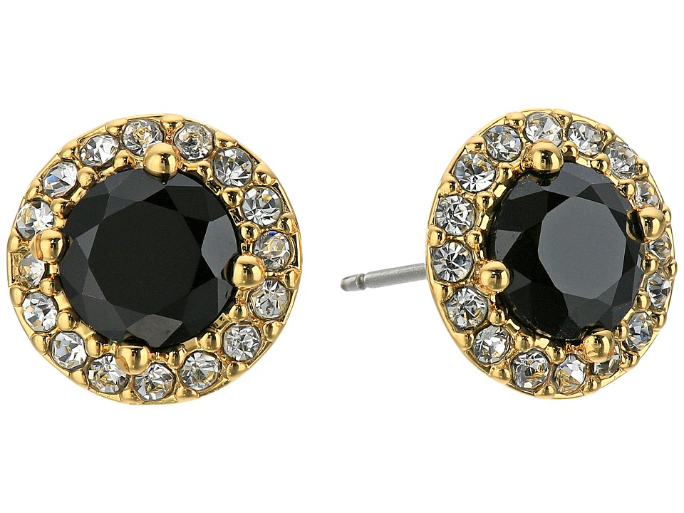 LAUREN Ralph Lauren - Treasure Trove Small Stone Stud Earrings (Black/Crystal/Gold) Earring