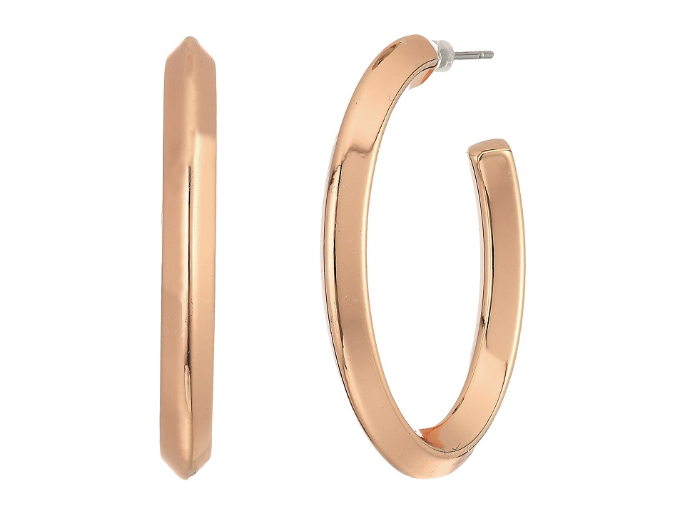 LAUREN Ralph Lauren - Mix Master Oval Knife Edge Hoop Earrings (Gold) Earring