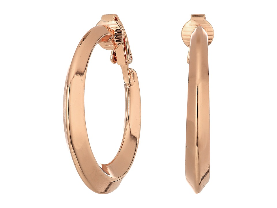 LAUREN Ralph Lauren - Mix Master Knife Edge Gold Clip Hoop Earrings (Gold) Earring