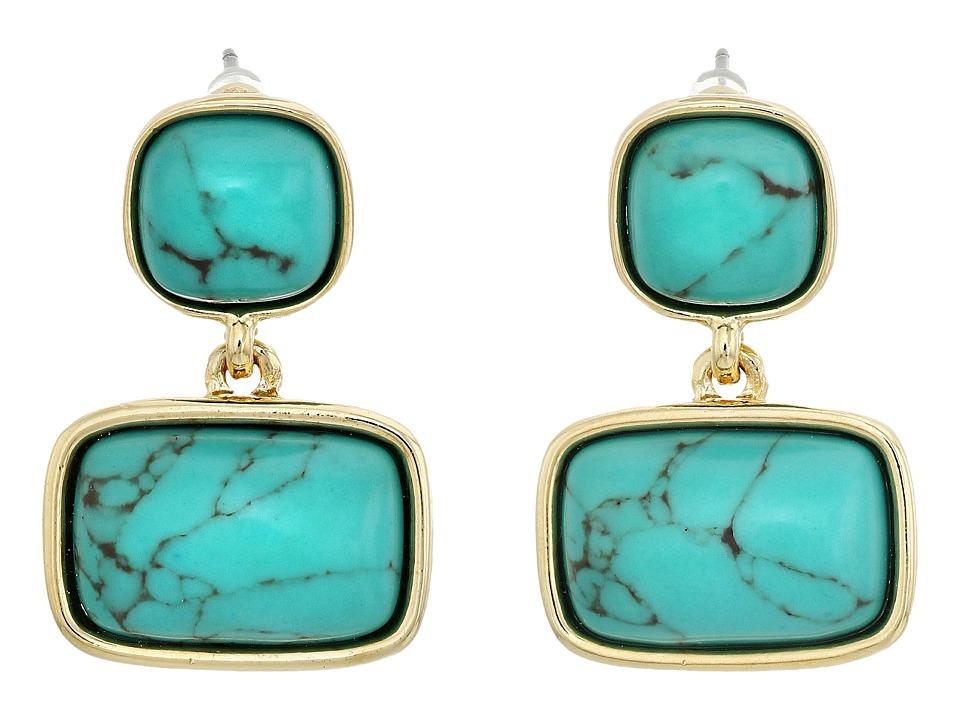 LAUREN Ralph Lauren - Treasure Trove Stone Double Earrings (Turquoise/Gold) Earring